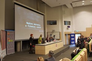 Maria Czerwińska podczas konferencji w Białymstoku