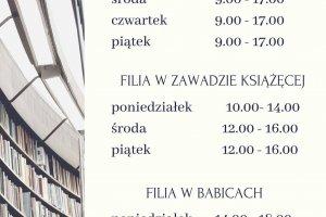 Nowe godziny pracy Biblioteki w Nędzy